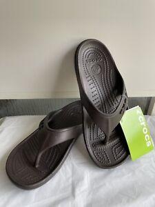 Crocs Unisex Baya Flip Expresso Relaxed Fit Men's Sz 4. Women's Size 6. NWOB