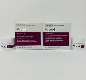 2x Murad Hydration Intense Recovery Cream 7.5ml/0.25oz Travel Mini Sz New In Box
