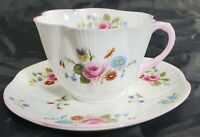 Vintage Shelley Dainty Tea Cup & Saucer Set Pink Floral 13525