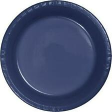 "Navy Blue 9"" Plastic Plates 20 Per Pack Blue Decorations & Party Supplies"