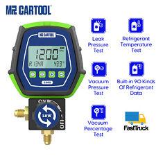 Refrigeration Digital Manifold Gauge Meter Hvac Vacuum Pressure Temp Leak Tester