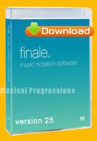 FINALE 25 .5 - MUSIC NOTATION SOFTWARE - DIGITAL - FULL PRO RETAIL  VERSION 25.5