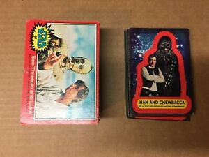 1977 Star Wars Series 2 Complete Card & Stickers Red Set(66/11)  Good
