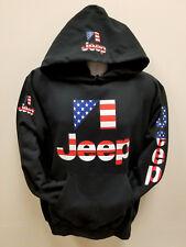 Jeep American Flag SWEATSHIRTS (NEW) Adult Sizes Black Hoodies