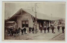 RARE Orig Postcard - Lehigh Valley Railroad Station Depot - Berkshire NY 1908 RR