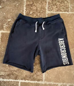 Abercrombie & Fitch Mens Size XS Pockets Drawstring Dark Blue Athletic Shorts