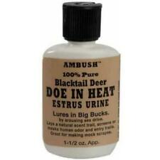 Ambush Moccasin Joe Urine Lure Scent Attractant Blacktail Deer Doe In Heat
