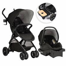 Evenflo Sibby Travel System with LiteMax 35 Infant Car Seat, Charcoal (Open Box)