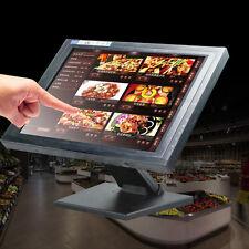 "POS 15"" Touch Screen LED TouchScreen Monitor Retail Kiosk Restaurant Bar USB VGA"