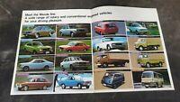 MAZDA 1974 CAR RANGE BROCHURE RX3 RX4 1000 1400 808 929 E2000 B1600 BONGO PARKWY