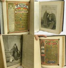 Antique 1876 Holy Bible Family Old New Testaments Henry Goodspeed w Tintype,note