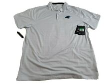 New listing Nike Carolina Panthers Men's XL Shirt Golf Polo Light blue stripped Dri-Fit NWT