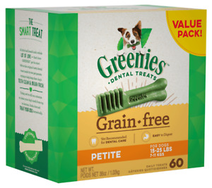 Greenies Dental Chews/Treats For Dogs - Petite x 60 - 1Kg