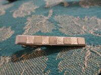 VINTAGE SWANK GOLD TONE TEXTURED TIE BAR CLIP CLASP Mid Century
