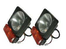 2x Headlight Head Lamp+Indicator Asbly Unit for JCB, John Deere Terex, Tata