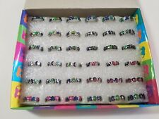 Wholesale Lot 60 Flower Moon Peace Mood Rings Color Changing Jewelry FAST US SHP