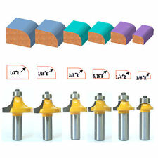 6pc 1/2 SH 1/2, 7/16, 3/8, 5/16, 1/4, 1/8 Rad. Round Over Router Bit Set sct-888