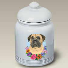 Bullmastiff Ceramic Treat Jar Tp 47050