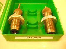 RCBS .222 Remington Rem. Reloading Die Set VTG USA!
