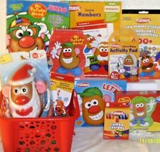 NEW MR POTATO HEAD CHRISTMAS TOY GIFT BASKET PLAYSET TOYS BOOKS PUZZLE