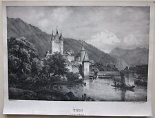 1823 THUN CANTON DE BERNE lithographie Godefroy Engelmann Villeneuve litografia
