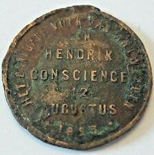 MEDAILLE HENDRIK CONSCIENCE 1893 -  BELGIQUE Belgïe