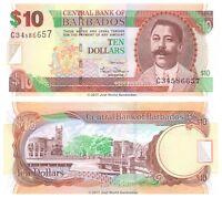 Barbados 10 Dollars 2007  P-68a Banknotes UNC