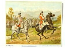 Military Art Print Painting by R. Simkin Trumpeter & Officer 1768 America #RG3