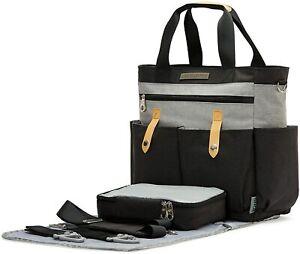 SoHo Diaper Bag Tote, Saxham, 5 Piece Set (Gray)