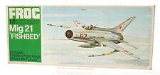 Vintage FROG 1/72 Mig 21 'Fishbed' Model Kit F263