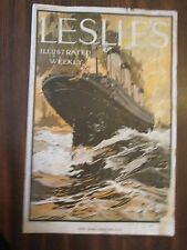 Leslie's Illustrated Weekly September 28, 1911 Oceanliner Steamship Cover