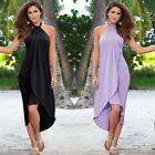 Women Summer BOHO Halter Long Maxi Evening Party Long Dress Beach Dress Sundress