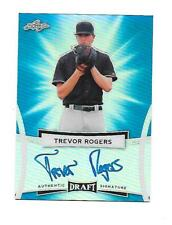 2017 Leaf Auto SP Blue Refractor RC Trevor Rogers ON Card Marlins 13th pick #/25