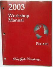 2003 Ford Escape Service Shop Repair Manual