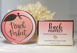 Too Faced Peach Perfect Mattifying Loose Setting Powder Translucent 1.23oz NIB