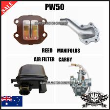 Yamaha PW 50 peewee 50 PY 50 Intake Reed Valve Manifold Carby + Air Filter
