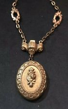 Antique French Victorian Gold Plated Fantastic Necklace Made In France