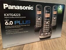 Panasonic Kxtg4223N Dect 6.0 3-Handset High Quality Phone System with Answering
