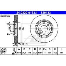 2x Bremsscheibe Bremse NEU ATE (24.0320-0133.1)