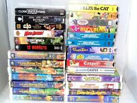 Huge Lot of 35 + Kids VHS Video Tapes Land Before Time Bugs Bunny Scooby Casper