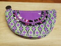 Vera Bradley Frill Collection Purple Punch Small Cosmetic plastic coated coin