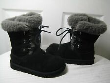 Ugg Australia 3285 Sophy Black Boots Shoes  Kids Size 31 / 1