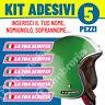 Adesivi Adesivo ROSA nome personalizzato Kit 5pz Sticker Casco Moto Bici Bike