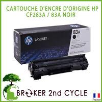 CARTOUCHE D'ENCRE D'ORIGINE HP HEWLETT PACKARD CF283A / 83A NOIR