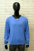 Maglia Ralph Lauren Uomo Maglione Blu Taglia XL Cardigan Cotone Sweater Man