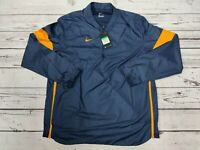 Nike Men's Vented 1/4 Zip Windbreaker Pullover Jacket AO5858-423 Navy/Gold Sz XL