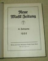 Neue Musik-Zeitung - 41. Jahrgang 1920 - 24 Hefte 12 Beilagen Inhaltsverzeichnis