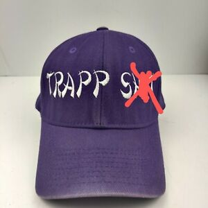 Trapp Sh*t Real Fit Fitted Hat Cap Purple