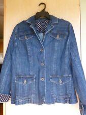Lands End Ladies Denim Jacket Sz 14 Basic Jean Jacket Trendy