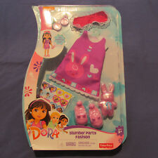 Dora and Explorer Slumber Party Fashion Pack Doll Dress Shoes Accessories 3+ New